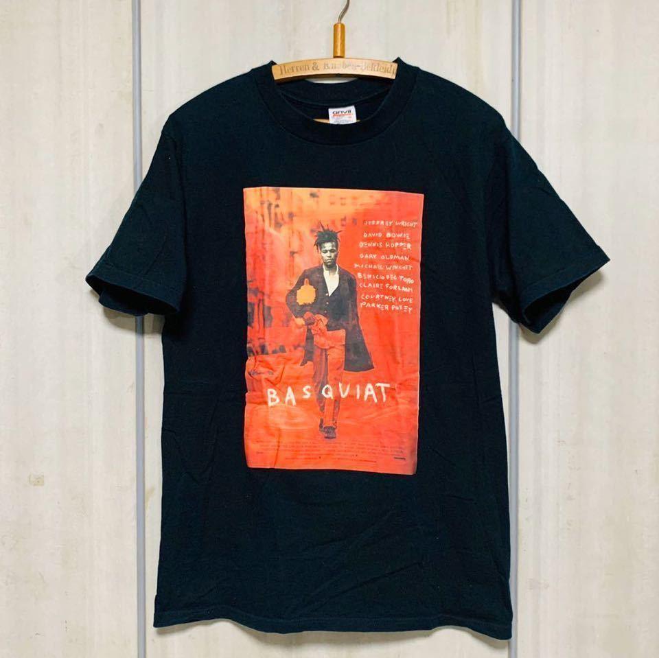 90s 映画 バスキア BASQUIA フォトプリント ムービー Tシャツ★キースへリング アンディ
