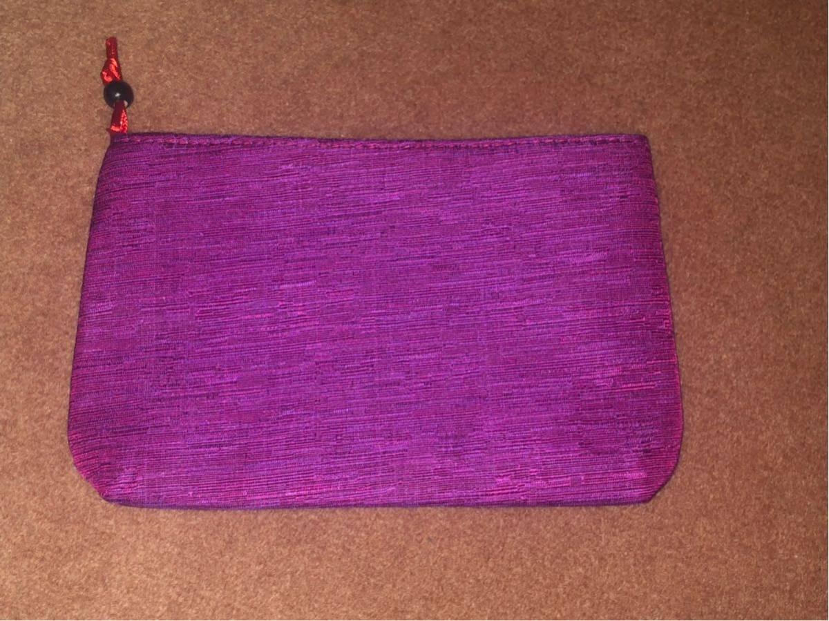 化粧ポーチ ハンドポーチ ポーチバッグ マルチポーチ スマホ・携帯電話・タバコ 紫色 パープル 未使用品