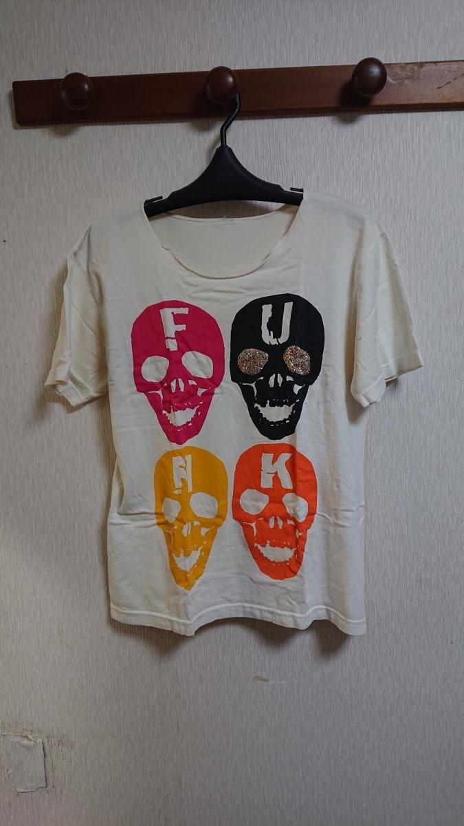 堂本剛着 SOULSMANIA スカル ラメ FUNK Tシャツ 【送料無料】_画像2