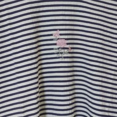 ボーダーTシャツ(五分袖)