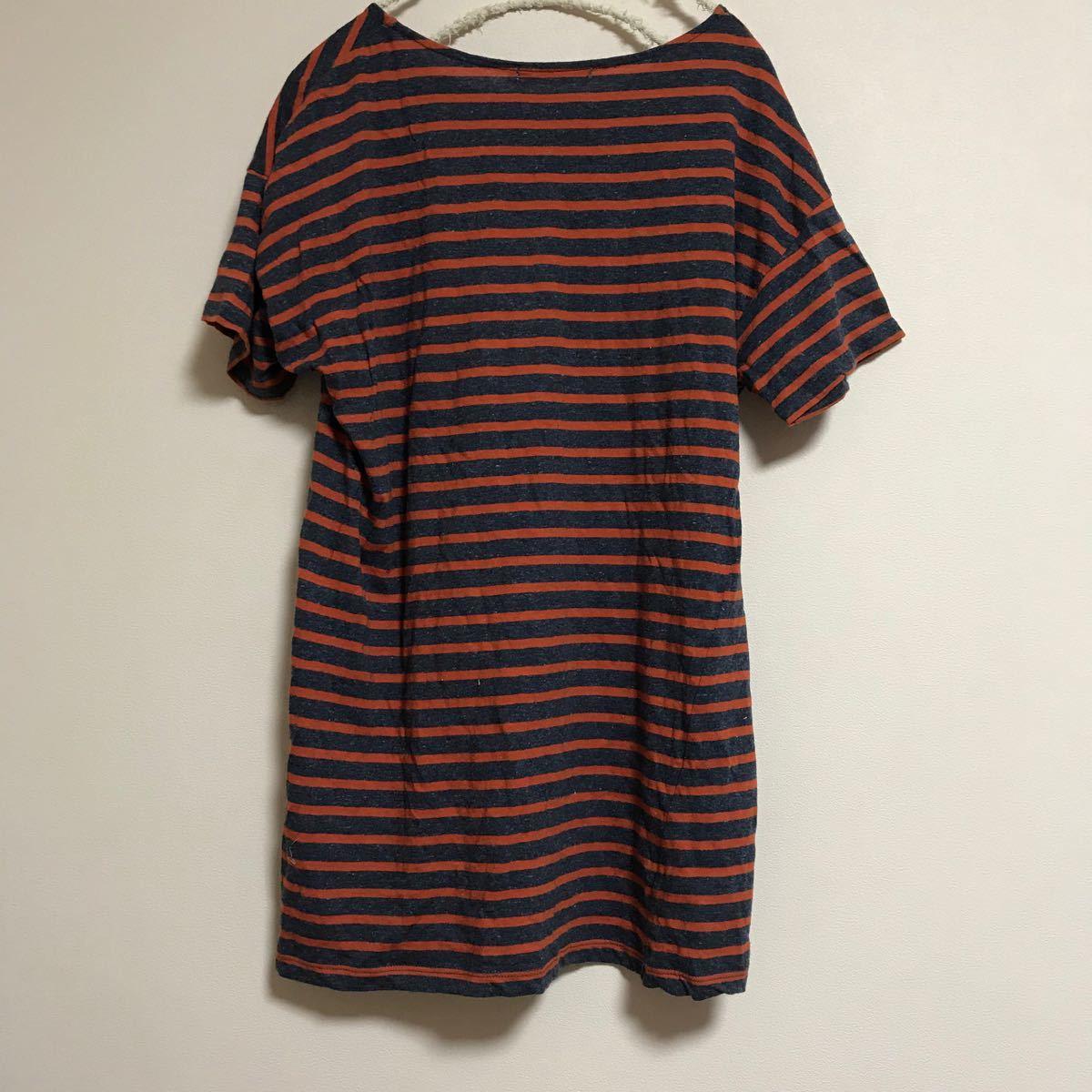 chocol raffine robe * ボーダーTシャツ / 綿×麻