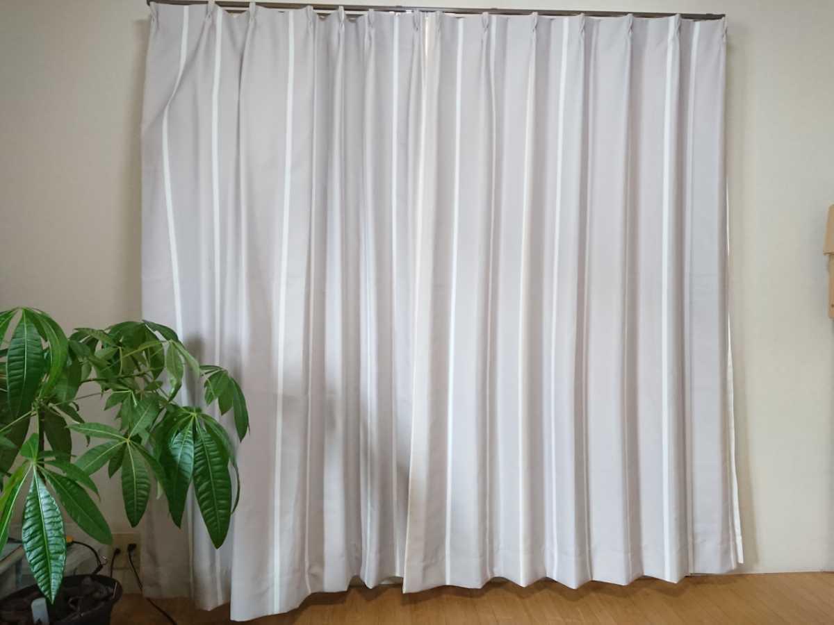 カーテン レースカーテン 幅100cm×長さ170cm 2枚+2枚 計4枚セット インテリア 防炎 防炎カーテン