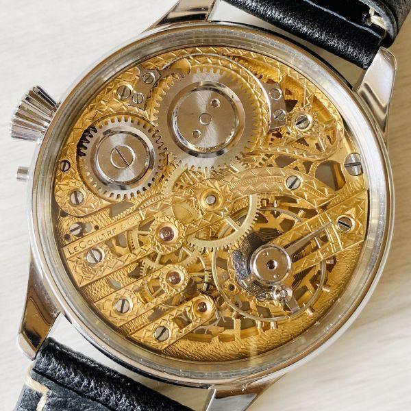 豪華!ルクルト/1920's/スケルトン/腕時計/手巻き/メンズ/アンティーク/ビンテージ/LE COULTRE/スイス/高級ブランド/美品/希少_画像8