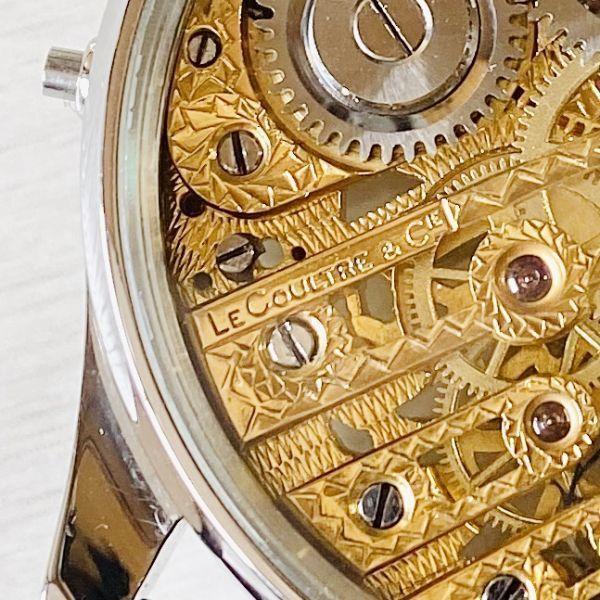 豪華!ルクルト/1920's/スケルトン/腕時計/手巻き/メンズ/アンティーク/ビンテージ/LE COULTRE/スイス/高級ブランド/美品/希少_画像9