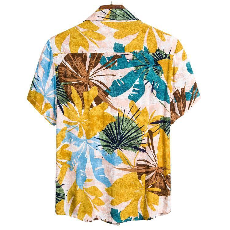 アロハシャツ メンズ シャツ おしゃれ かわいい 半袖 えり 夏 M