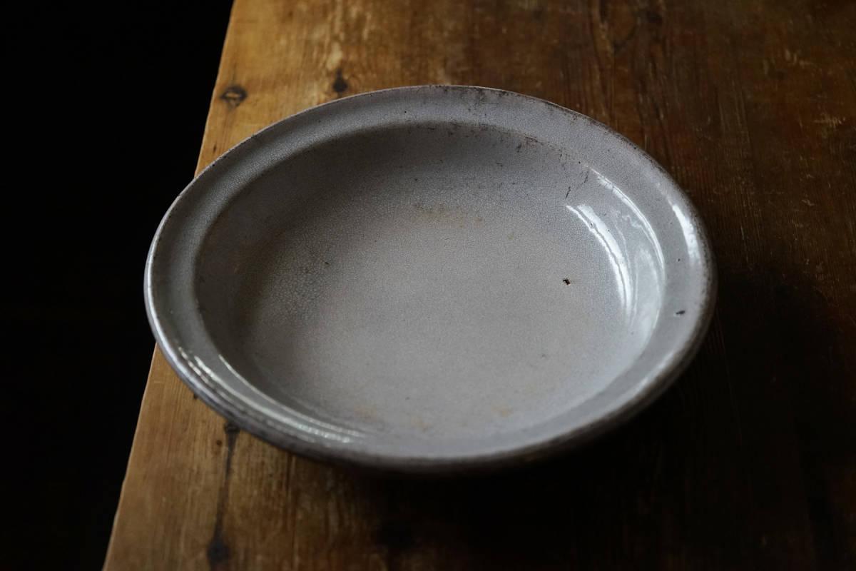 特大 38cm キュノワール大皿 プレート / 18-19世紀・フランス / 陶器 アンティーク 古陶 民藝 皿