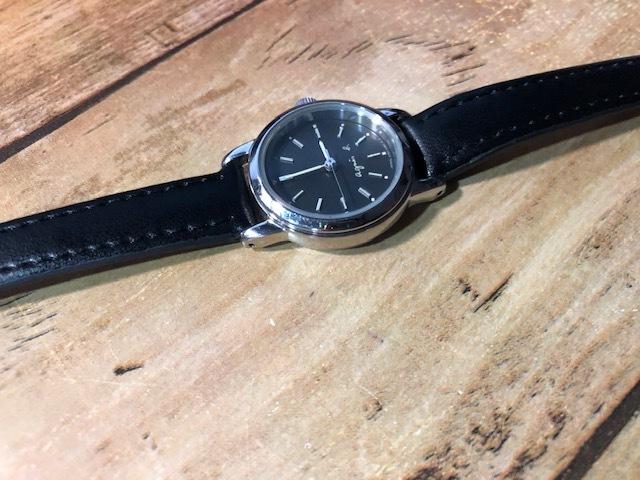 AK10 良好程度 agnes.b/アニエスベー シルバー×ブラック系文字盤 V701-1160 クオーツ レディース 腕時計_画像4