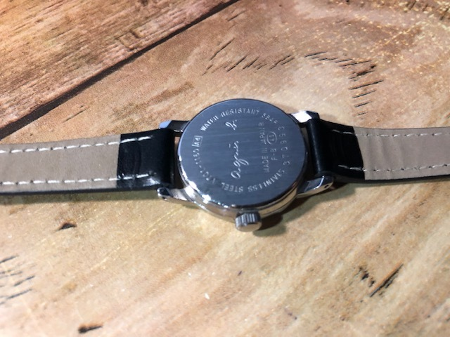 AK10 良好程度 agnes.b/アニエスベー シルバー×ブラック系文字盤 V701-1160 クオーツ レディース 腕時計_画像5