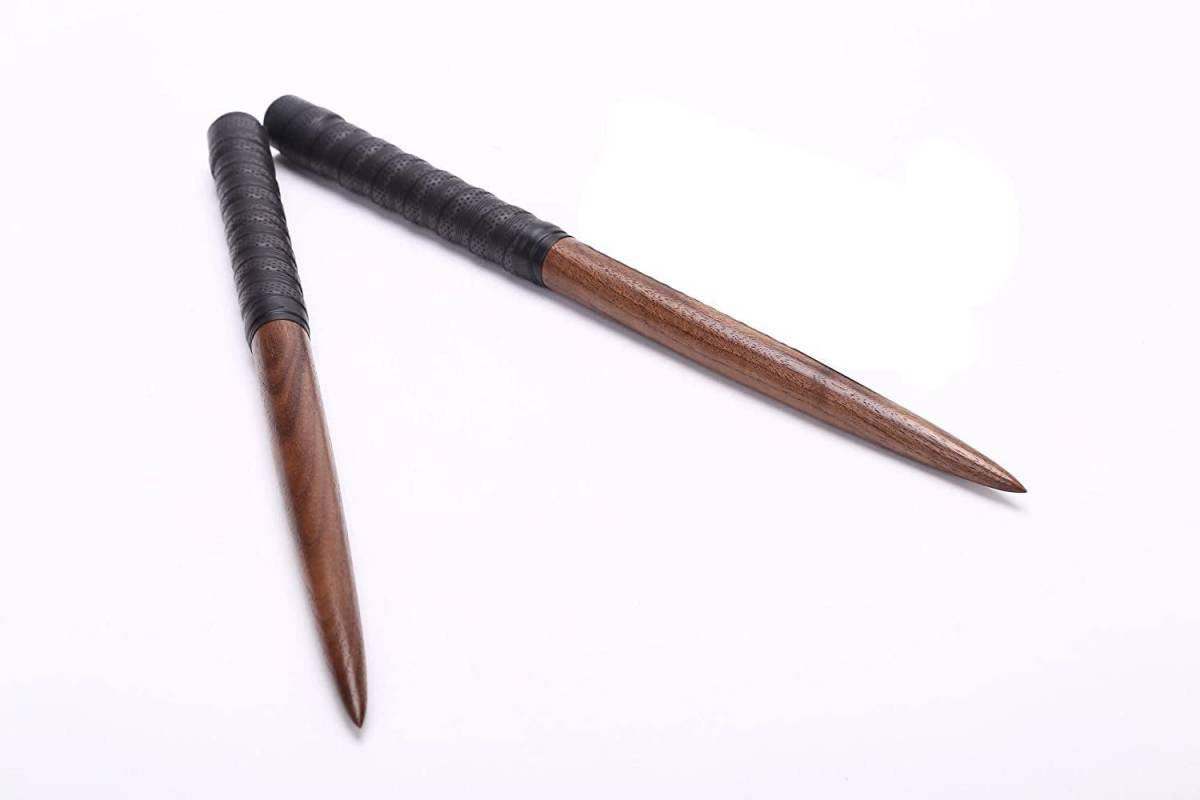 太鼓の達人 マイバチ 黒胡桃(ウォールナット)超硬材 35cm 反発力 予備グリップ付き 2重巻き 魔改造にも 黒