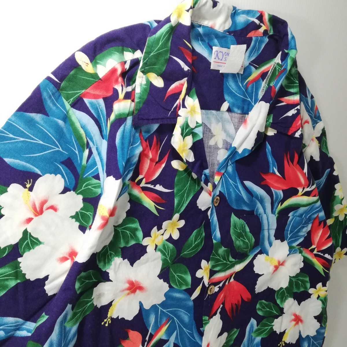 古着 アロハシャツ ビンテージ ハワイ製 ハイビスカス メンズ レディース