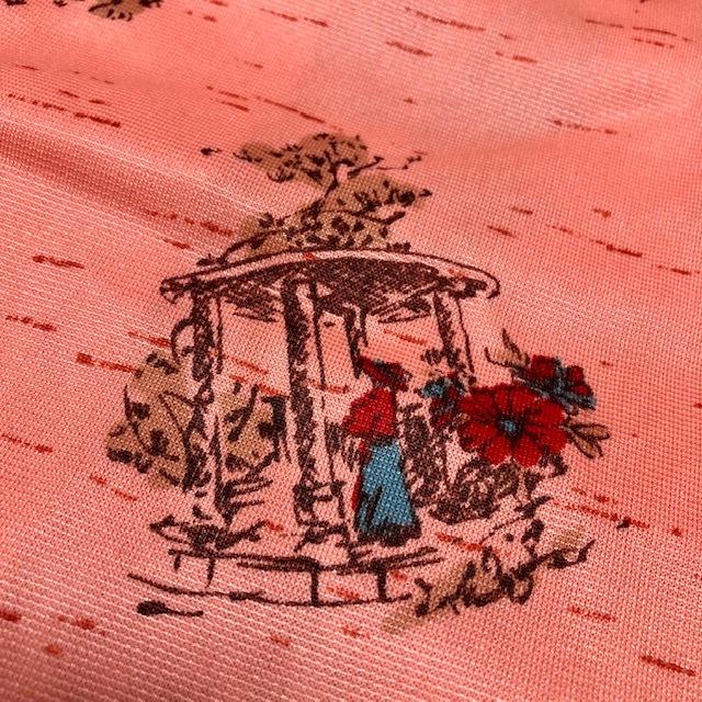 昭和レトロ 70's ラップ巻き シャツジャケット 羽織り ヴィンテージ レトロモダン 国産レトロ ★38