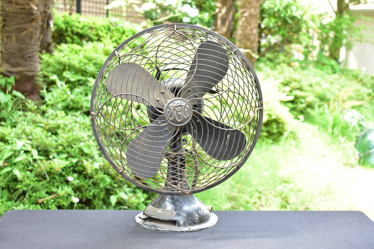 東芝 TOSHIBA 金属4枚プロペラ 風速4段切換 扇風機 芝浦製作所 C-7032 動作品 昭和レトロ ヴィンテージ_画像2