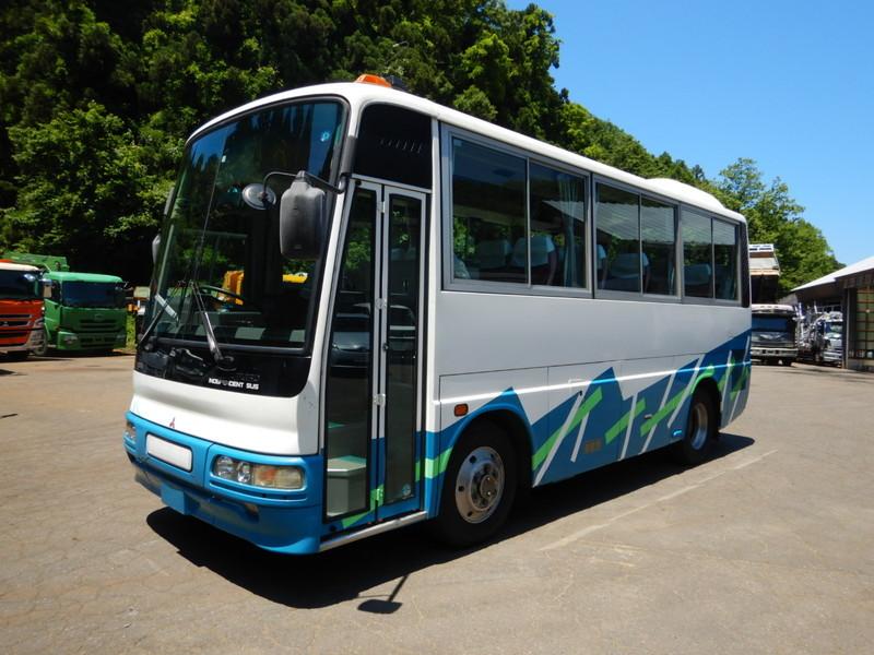 「【CH15559】H8年 三菱 エアロミディ ショート7m 実走13万㌔台 記録簿多数有り 29人乗り 自動ドア 乗合バス 観光バス 中型バス」の画像2