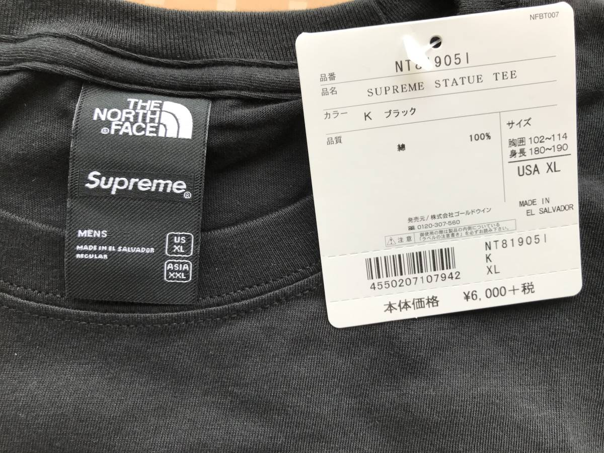 Supreme / The North Face Statue of Liberty Tee Black XLarge_画像3