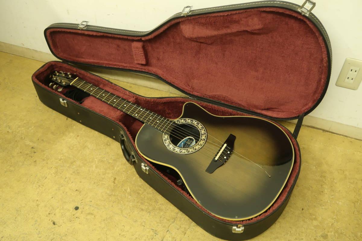 中古 エレキアコースティックギター エレアコ Ovation 3862 Pinnacle ピナクル オベーション ハードケース付き