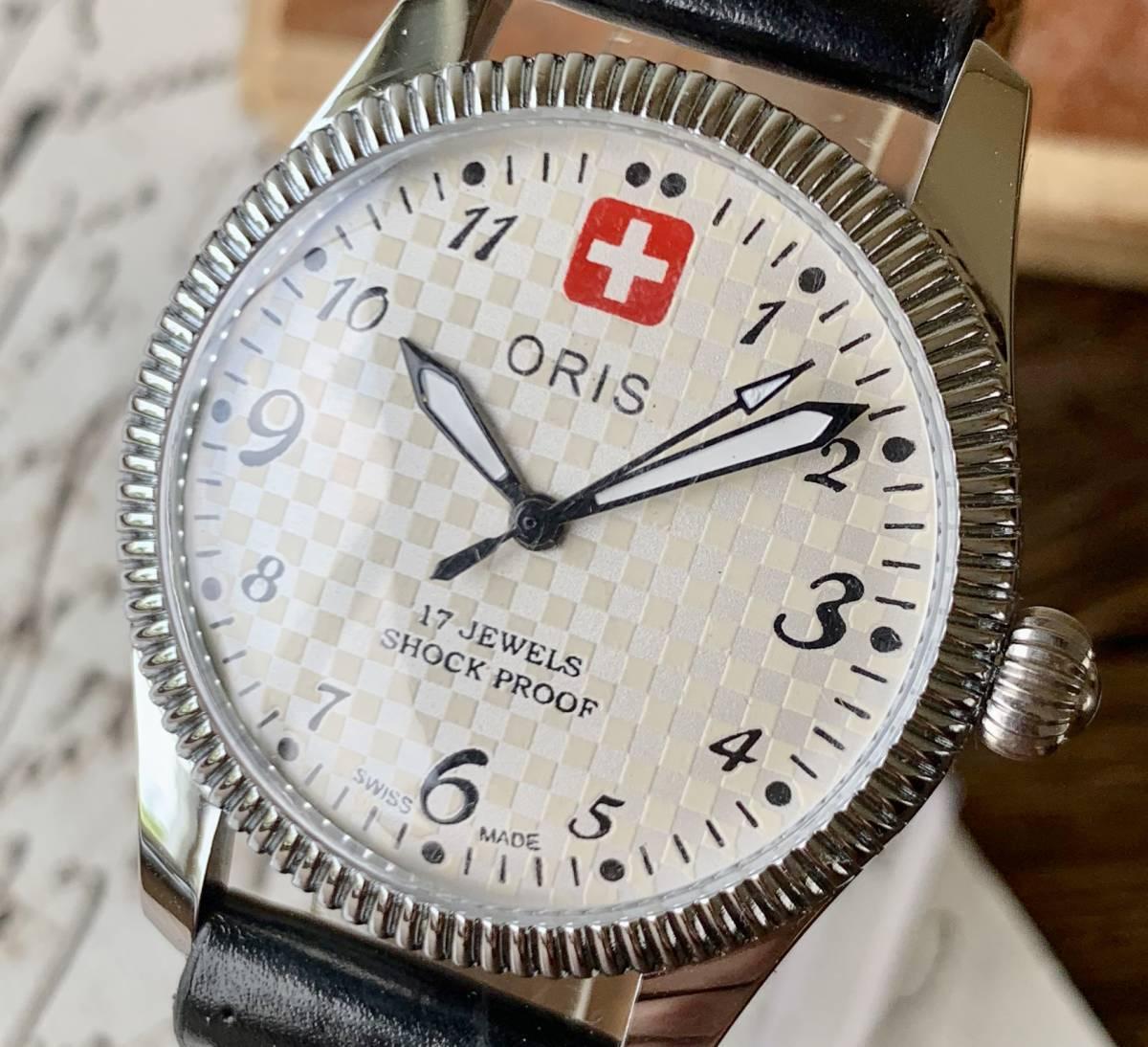 【1円スタート】オリス ORIS 1970's ホワイト 腕時計 メンズ 機械式手巻き アンティーク 整備済み ヴィンテージ 17石 No207