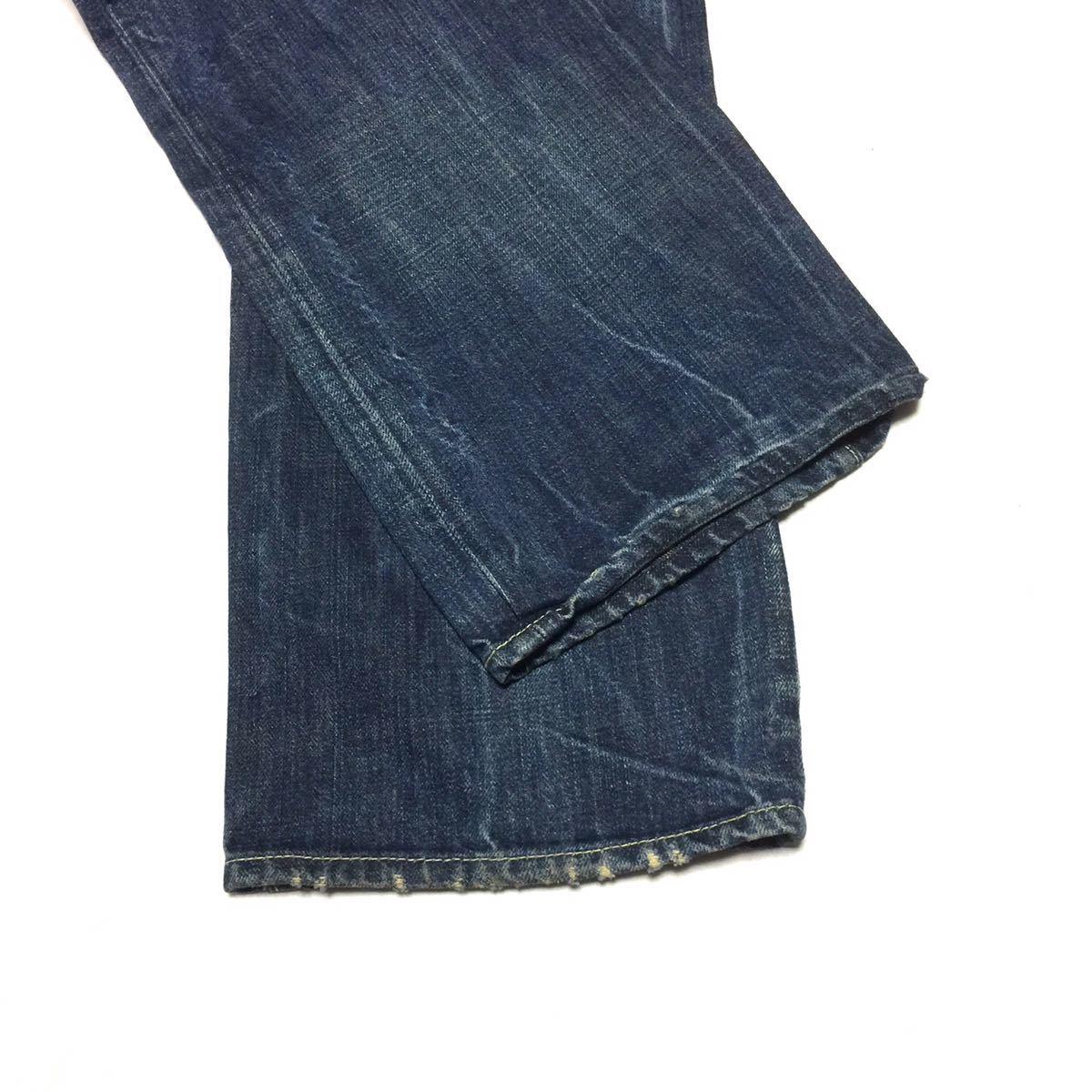 即決 ENERGIE エナジー ダメージ加工 ストレート デニム パンツ ジーンズ サイズ30約78cm イタリア製