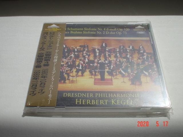 【即決・未使用】ケーゲル【シューマン:交響曲第4番&ブラームス:交響曲第2番】1988年/ドレスデン・フィル/weitbrick_画像1