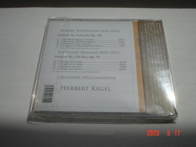 【即決・未使用】ケーゲル【シューマン:交響曲第4番&ブラームス:交響曲第2番】1988年/ドレスデン・フィル/weitbrick_画像2
