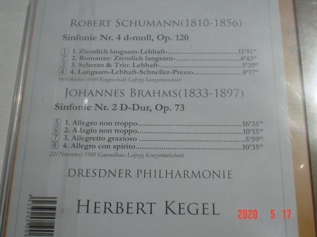 【即決・未使用】ケーゲル【シューマン:交響曲第4番&ブラームス:交響曲第2番】1988年/ドレスデン・フィル/weitbrick_画像3