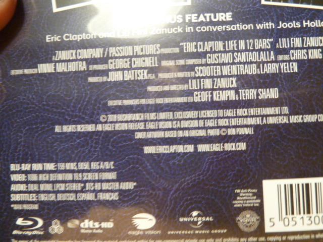 ブルーレイ★エリック・クラプトン「GENIUS AMPLIFIED」LIVE IN 12 BARS_画像3