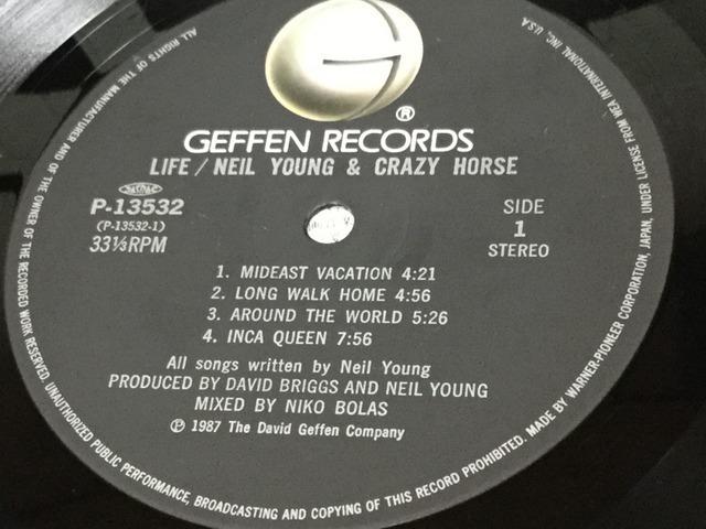 【E564】ニール・ヤング&クレイジー・ホース/ライフ/P-13532/JP/ワーナー/Neil Young/Life/LP_画像4