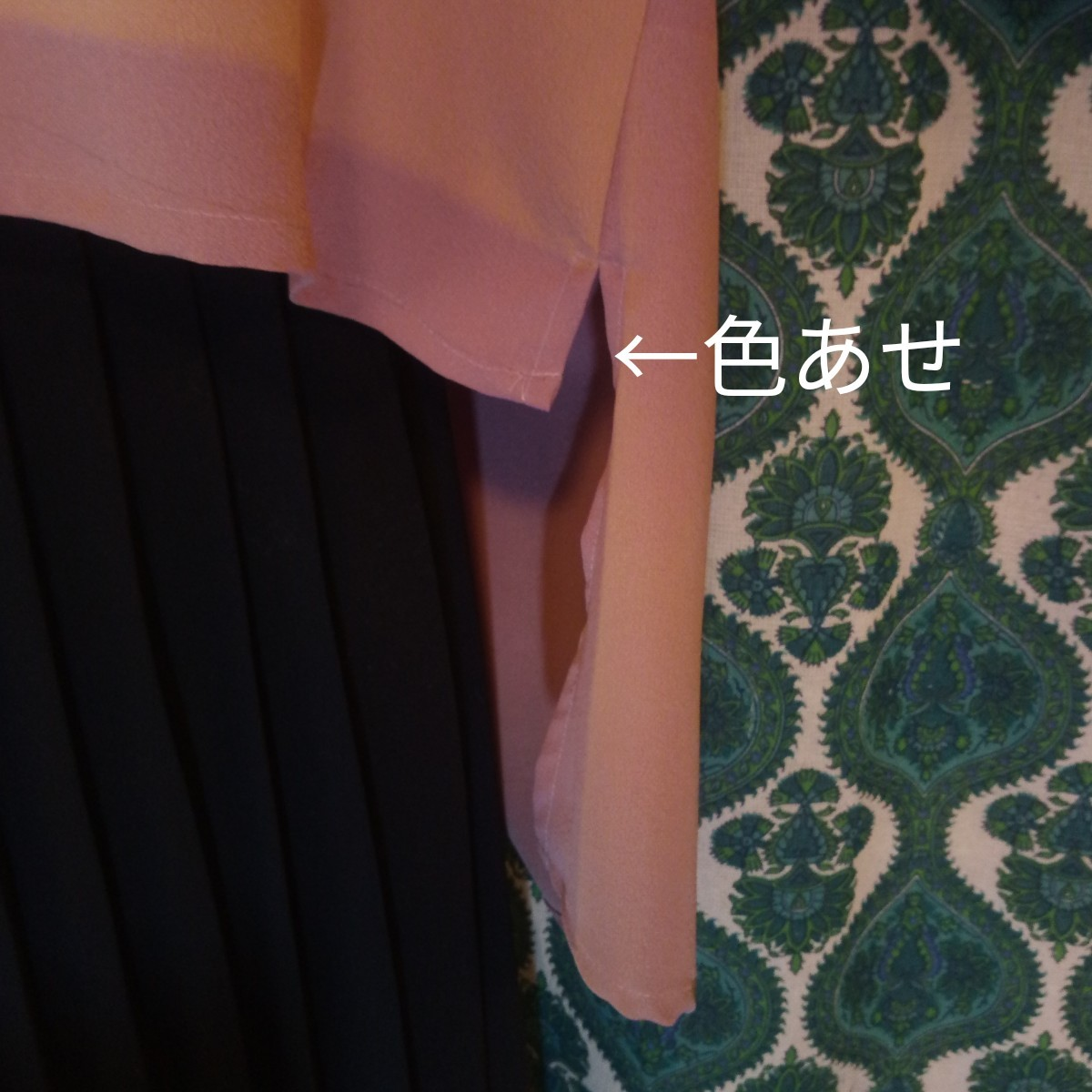 《 着物リメイク》正絹友禅染/薄紫/芍薬 かぶりブラウス