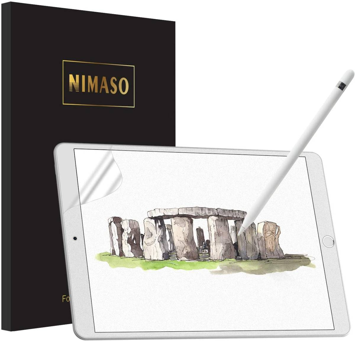 【ガイド枠付き】 iPad 10.2 用 ペーパーライク フィルム 箱キズあり_画像1