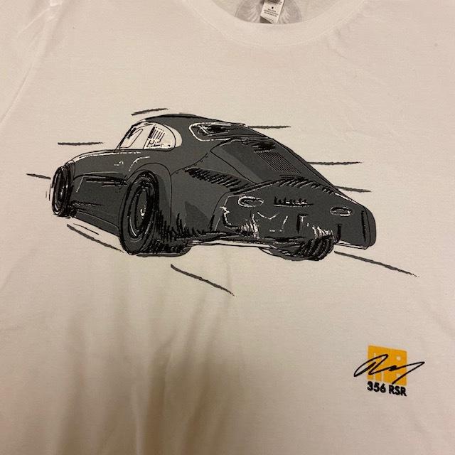 MOMO 白 Mサイズ エモリー モータースポーツ Emory Motorsports Tシャツ 356 OUTLAWS カリフォルニア USDM ポルシェ 空冷 VW_画像2