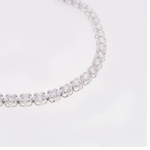 ブレスレット テニスブレスレット 天然ダイヤモンド 2.00 ct Pt850 プラチナ 未使用_画像3