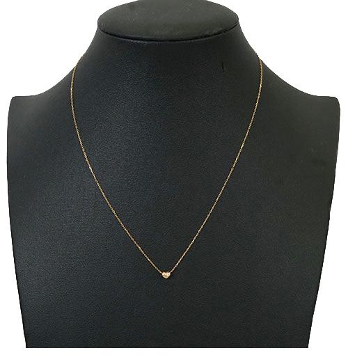 ネックレス ハートモチーフ 天然ダイヤモンド 0.01 ct K10YG イエローゴールド ペンダント 未使用_画像7