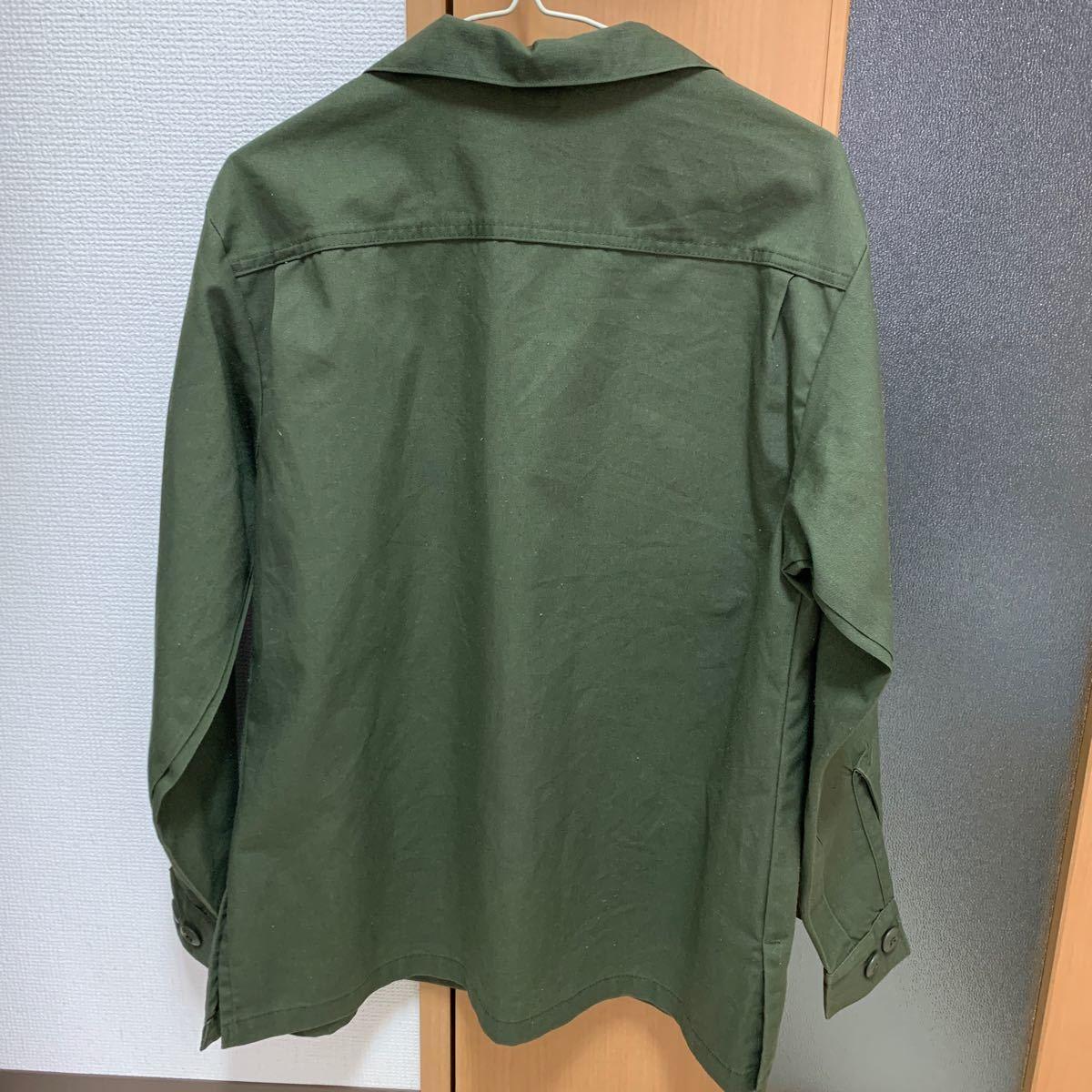 長袖シャツ アウター ワイシャツ ミリタリーシャツ