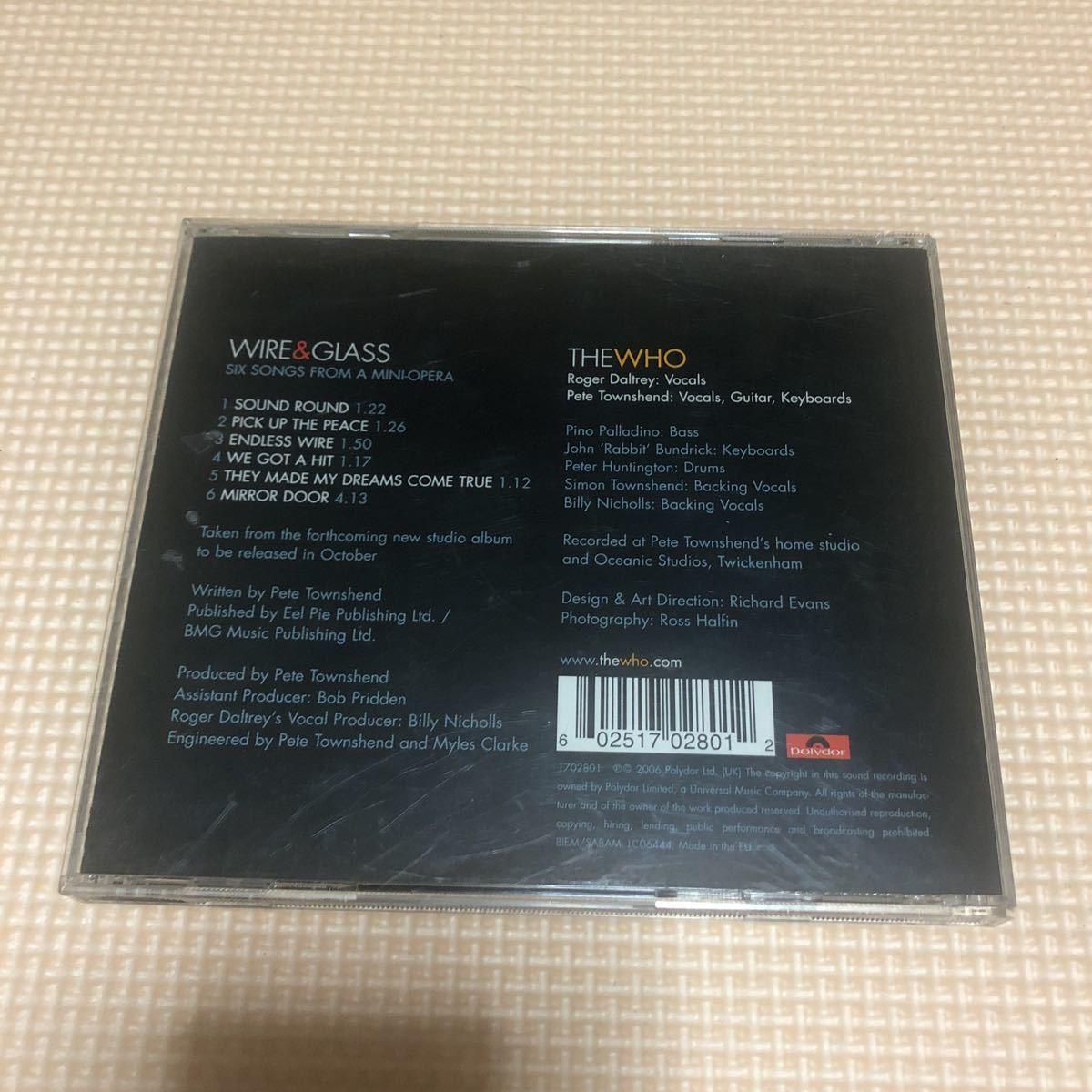 ザ・フー The Who Wire & Glass (Six Songs From A Mini-Opera)EU盤CD