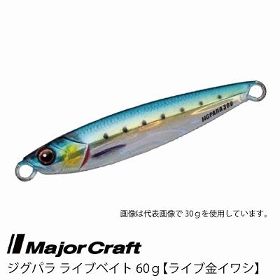 ■Major Craft/メジャークラフト ジグパラ ライブベイト カラーシリーズ 60g JPS-60L 【 #81 ライブキンイワシ】■_画像1
