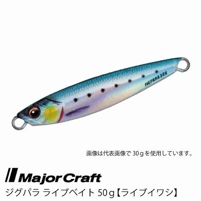 ■Major Craft/メジャークラフト ジグパラ ライブベイト カラーシリーズ 50g JPS-50L 【 #80 ライブイワシ】■_画像1