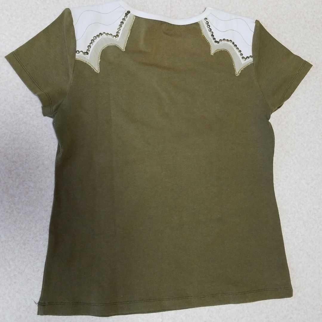 カットソー  半袖Tシャツ カーキ色