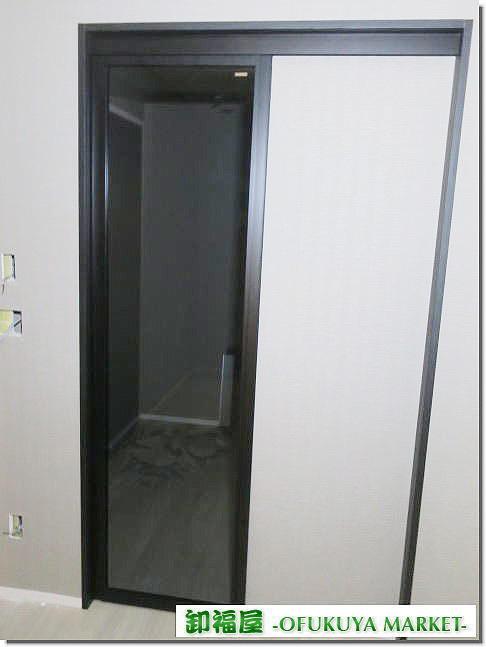 22191■室内用 ガラス スライドドア 1枚組 W600 H2030 上部レール付き■展示品/未使用品/取り外し品_画像1