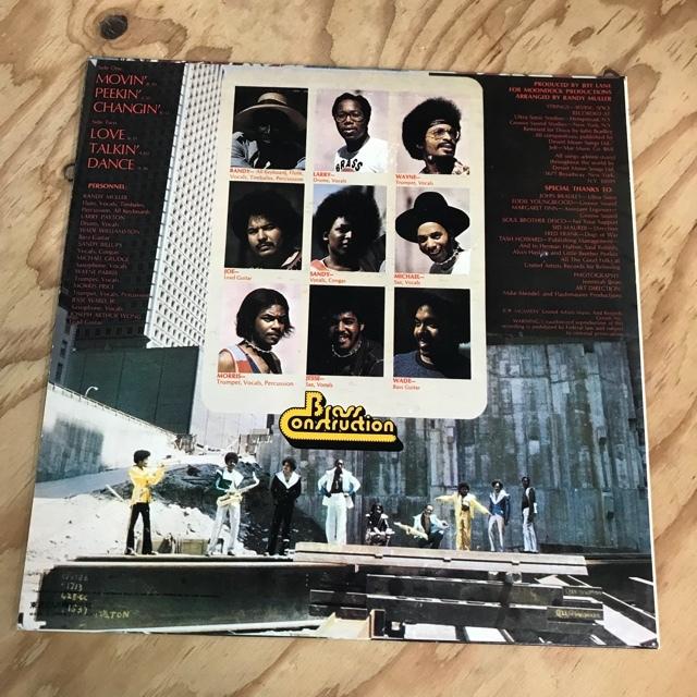 N19 [LP] 貴重な国内盤!Brass Construction Brass Construction LP レコード アナログ FUNK DISCO SOUL LLS-80473_画像2