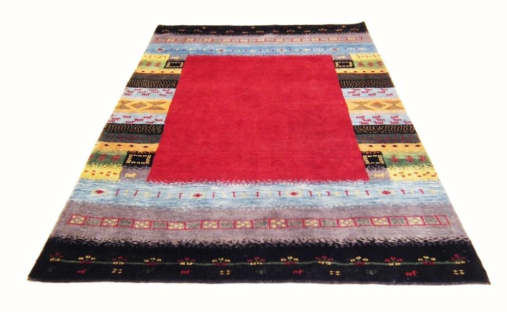 ◆ペルシャギャッベ◆手織り手紡ぎ◆GABBEHギャッベ◆カーペット◆イラン◆ペルシャ絨毯◆リビングサイズ 167cmx237cm er58