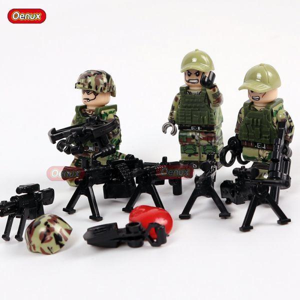 LEGO レゴ ブロック 互換 ARMY WW2 ロシア軍特殊部隊 アンチテロ部隊 カスタム ミニフィグ 6体セット 大量武器・装備・兵器付き_画像2