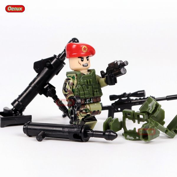 LEGO レゴ ブロック 互換 ARMY WW2 ロシア軍特殊部隊 アンチテロ部隊 カスタム ミニフィグ 6体セット 大量武器・装備・兵器付き_画像5