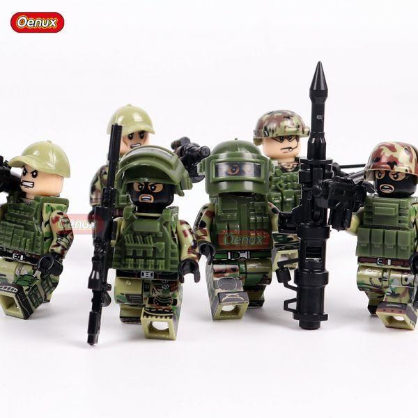 LEGO レゴ ブロック 互換 ARMY WW2 ロシア軍特殊部隊 アンチテロ部隊 カスタム ミニフィグ 6体セット 大量武器・装備・兵器付き_画像3