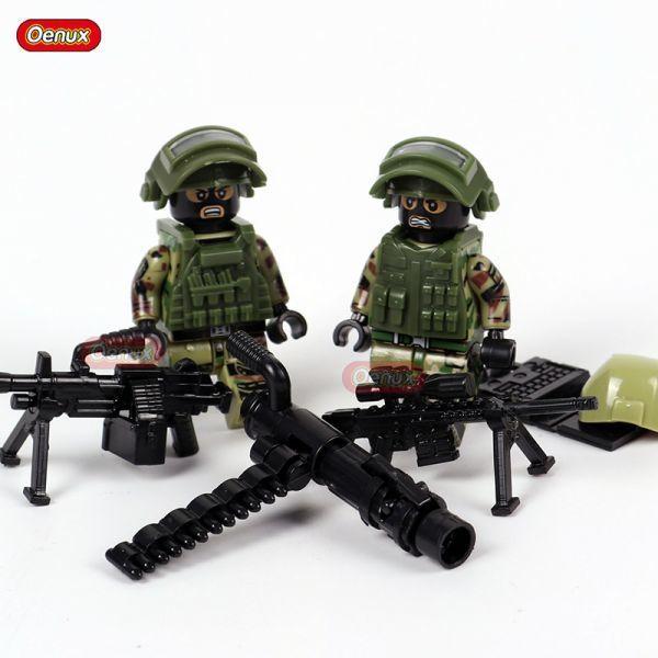 LEGO レゴ ブロック 互換 ARMY WW2 ロシア軍特殊部隊 アンチテロ部隊 カスタム ミニフィグ 6体セット 大量武器・装備・兵器付き_画像6