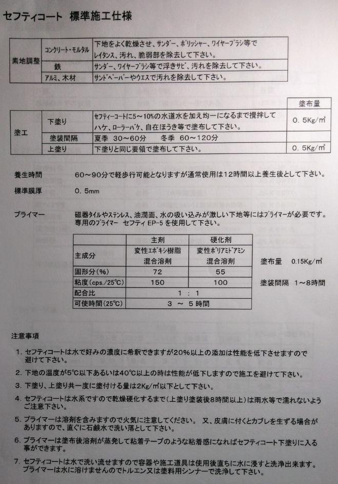水性滑り止め塗布剤「スベランセフティコート 25㎏」 高分子商事株式会社_画像5