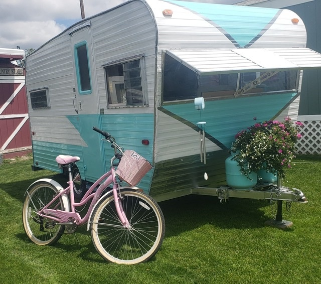 「キャンピングトレーラー レストア済 新規輸入車 50's 60's ガーデンオフィス キャンプ 仕事部屋 キッチンカー」の画像1
