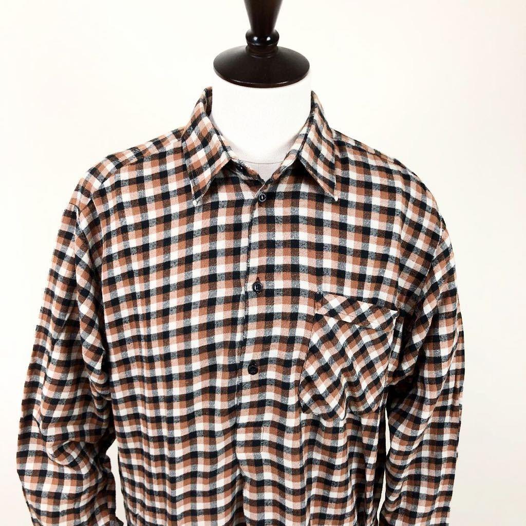 ① ユーロヴィンテージ チェック柄 グランパシャツ ロングシャツ ヴィンテージ ビンテージ チェックシャツ プルオーバー シャツ 長袖シャツ