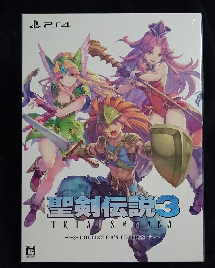 e-STORE専売 PS4 聖剣伝説3 トライアルズ オブ マナ コレクターズエディション 新品未開封