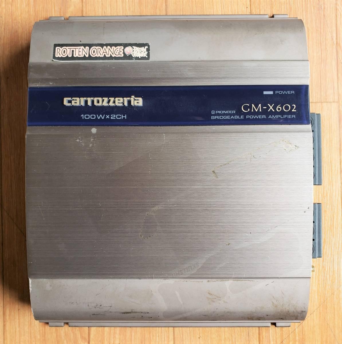 carrozzeria カロッツェリア 2ch パワーアンプ GM-X602 動作未確認_画像1