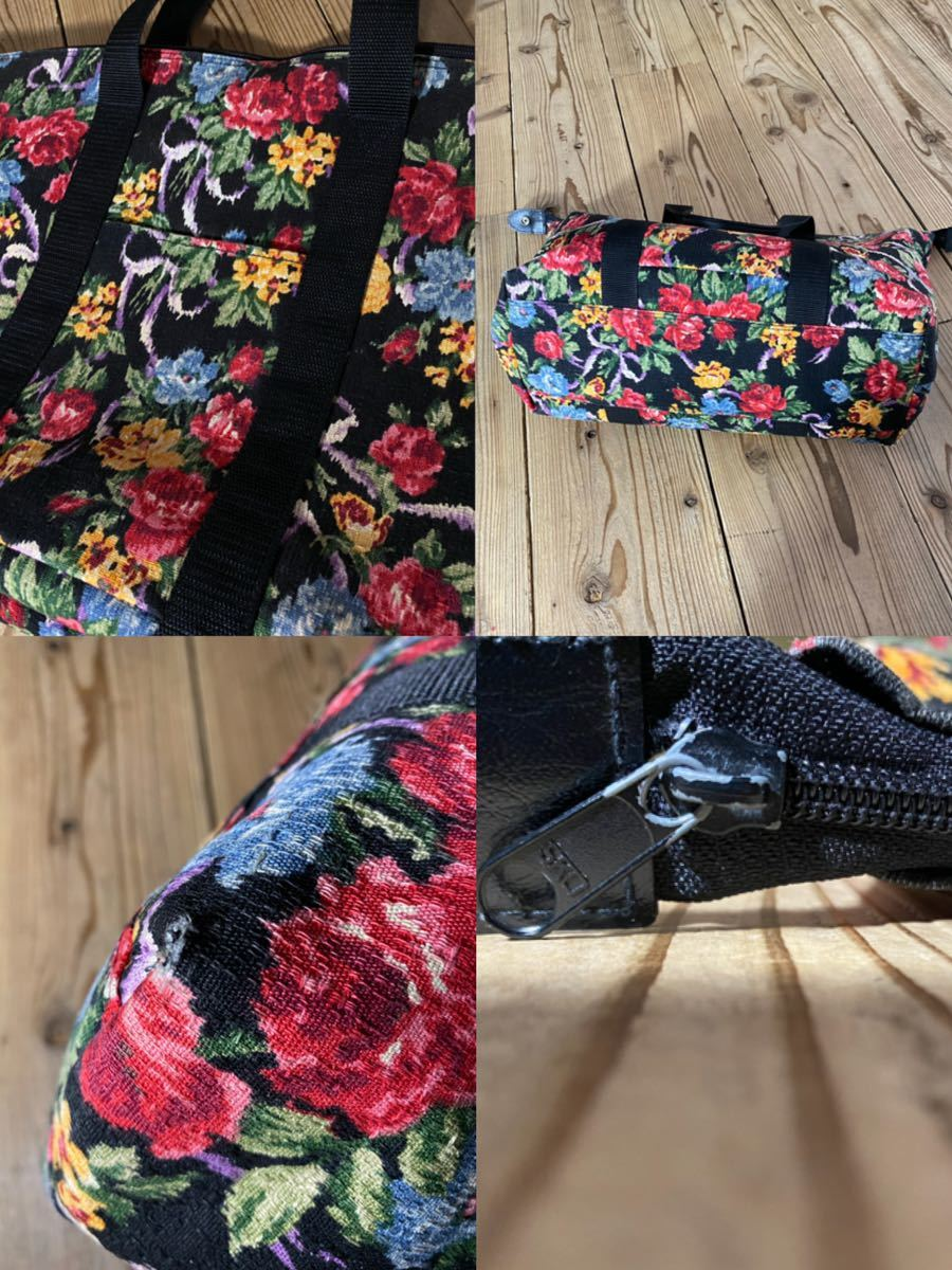 アンティーク ビンテージ レトロ 花柄 ボストン バック バッグ トランク トートバッグ