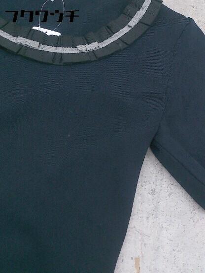 ◇ TO BE CHIC トゥービーシック 五分袖 ニット セーター サイズⅡ ネイビー レディース_画像6